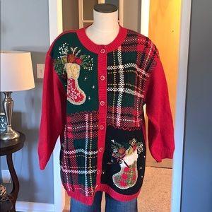 Vintage Christmas cardigan large
